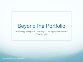 Beyond the Portfolio