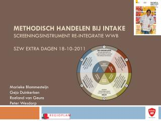 Methodisch handelen bij intake screeningsinstrument re-integratie WWB SZW Extra dagen 18-10-2011