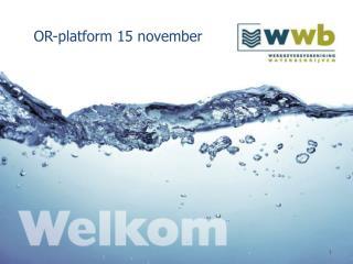 OR-platform 15 november