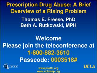 Prescription Drug Abuse: A Brief Overview of a Rising Problem
