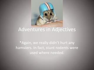 Adventures in Adjectives