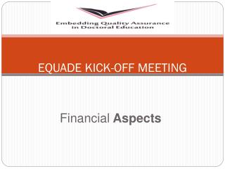 EQUADE KICK-OFF MEETING