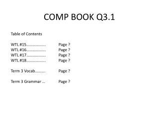 COMP BOOK Q3.1