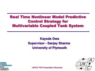 Real Time Nonlinear Model Predictive Control Strategy for Multivariable Coupled Tank System