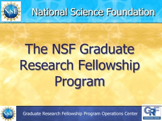 Prepare and Submit an Application to NSF Using Grants
