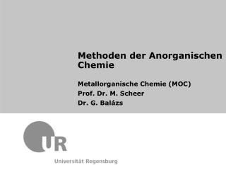 Methoden der Anorganischen Chemie