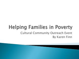Helping Families in Poverty