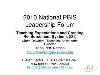 2010 National PBIS Leadership Forum