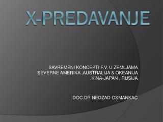 X-PREDAVANJE