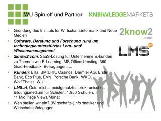 WU Spin-off und Partner