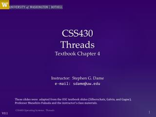 CSS430  Threads Textbook Chapter  4
