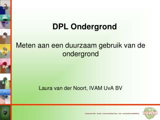 DPL Ondergrond