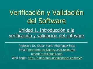 Verificación y Validación del Software