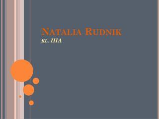 Natalia Rudnik kl. IIIA