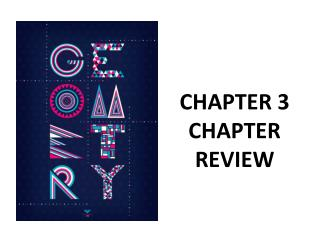 CHAPTER 3 CHAPTER REVIEW