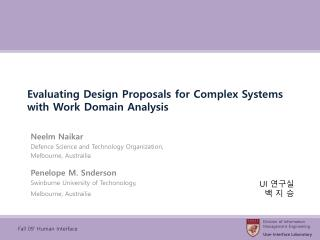 Evaluating Design Proposals for Complex Systems with Work Domain Analysis