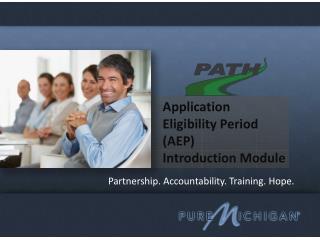 Partnership. Accountability. Training. Hope.