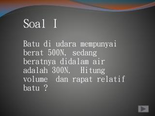 Soal  I