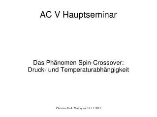 AC  V  Hauptseminar