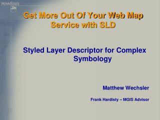 Get More Out Of Your Web Map Service with SLD