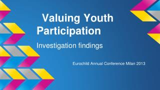 Valuing Youth   Participation