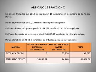 ARTICULO 15 FRACCION X