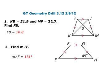 GT Geometry Drill 3.12 2/9/12