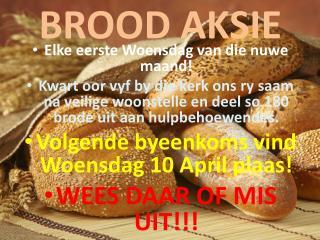 BROOD AKSIE