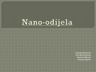 Nano-odijela