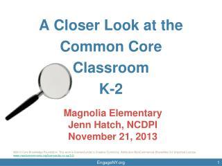 Magnolia  Elementary Jenn  Hatch, NCDPI November 21, 2013