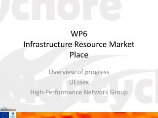 WP6 Infrastructure Resource Market Place