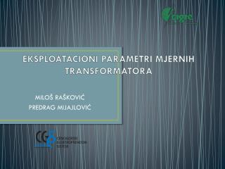 EKSPLOATACIONI PARAMETRI MJERNIH TRANSFORMATORA