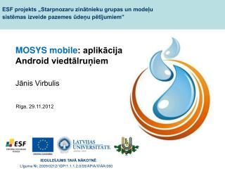 """ESF projekts """"Starpnozaru zinātnieku grupas un modeļu  sistēmas izveide pazemes ūdeņu pētījumiem"""""""