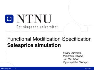 Functional  Modification Specification  Salesprice  simulation
