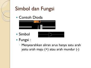 Simbol dan Fungsi
