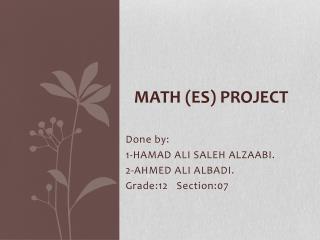 Math ( es ) project