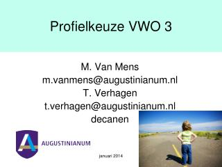 Profielkeuze VWO 3