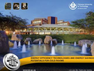 ENERGY  EFFICIENCY TECHNOLOGIES AND  ENERGY SAVINGS     POTENTIALS  FOR COLD ROOMS