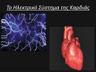 Το Ηλεκτρικό Σύστημα της Καρδιάς