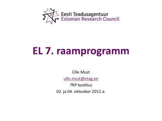 EL 7. raamprogramm