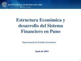 Estructura Económica y desarrollo del Sistema Financiero en Puno