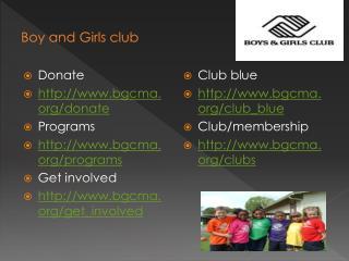 Boy and Girls club