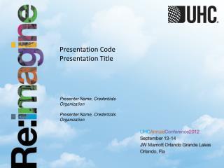 Presentation  Code Presentation Title