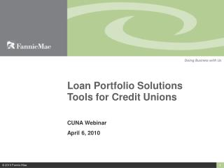 Loan Portfolio Solutions Tools for Credit Unions