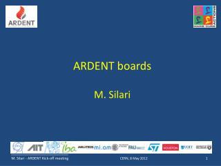 ARDENT boards M. Silari