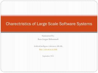 Charectristics of Large Scale Software Systems