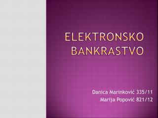 ELEKTRONSKO BANKRASTVO