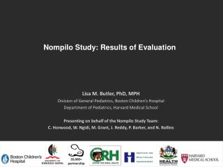 Nompilo Study: Results of Evaluation