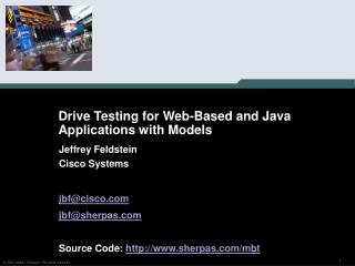 Drive Testing for Web-Based and Java Applications with Models