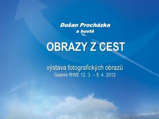 """1. Úvod Výstava fotografických obrazů z cyklu OBRAZY ZCEST""""  Galerie RWE Dušan Procházka a hosté"""
